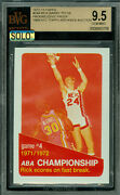 1972-73 Topps Loa 244 Rick Barry Game-4 Proof Bgs 9.5 Mac Solo Finest Grade