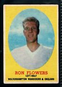 A And Bc Gum Bazooka 1962 Footballer Ron Flowers - Wolves And England Type Card