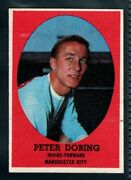 A And Bc Gum Bazooka 1962 Footballer Peter Dobing - Manchester City Type Card