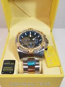 Bolt 25522 Stainless Steel Chronograph 100wr 2-tone Blue Face Mens Watch