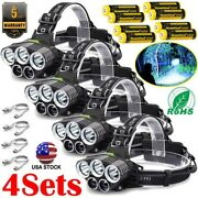 High Power 990000lm Led Headlamp Rechargeable Head Torch Headlight Fishing Hike