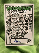 Wacky Packages 2012 Old School 4 B/w 1/1 Sketch Card By Sara