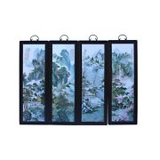 Chinese Mountain Water Scenery Porcelain Painting Wall Panel Set Cs6039