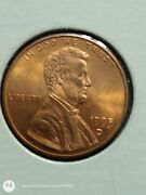 1995-derror Doubled Die Lincoln Memorial Penny/doubled D Mint Mark.