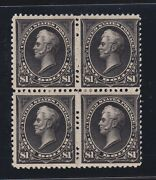 Us 261 1 Perry Mint Type 1 Block Of 4 F-vf Og H Scv 4500