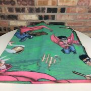 Harry Potter Vintage Throw 2001 Flying Broomsticks Quidditch Golden Snitch Rare