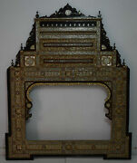 Large 6 Ft Height Handmade Moroccan Wood Mirror Frame, Wall Hanging Mirror Frame
