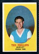 A And Bc Gum Bazooka 1962 Footballer Ted Phillips - Ipswich Town Type Card
