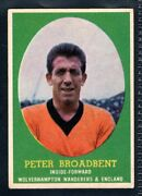 A And Bc Gum Bazooka 1962 Footballer Peter Broadbent - Wolves And England Type Card