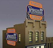 Micro Structures O N Ho Scale Animated Billboard Rexall   Bn   7581