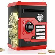 Playsheek Piggy Bank For Girls Boys Large Electronic Money Coin Banks With Paper