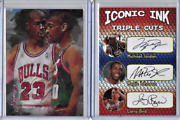 Michael Jordan Gary Payton Limited Edition Authentic Artist Signed Card 44 / 50