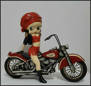 Vintage Betty Boop Motorcycle Figurine 20 X 17 King Features 2002