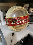 Vintage Coors Beer Lighted Sign 1981 Very Rare Trans World Little Ferry Nj Banqe
