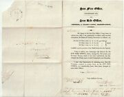 1827 Sun Life And Fire Insurance Printed Letter Norwich Mileage And Too Late Pmks