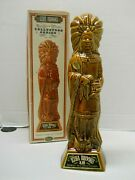 Ezra Brooks 1968 Cigar Store Indian Collectors Series Whiskey Decanter Box Empty