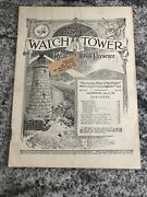 1924 Watchtower Magazine Jehovah Bible Students Ibsa August 15 Issue