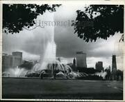 1968 Press Photo Buckingham Fountain 4th Most Photographed Tourist Attraction