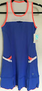 Sofibella Keyhole Dress 1775 Blue/white With Poppy Trim Montreal Collection