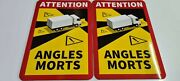 Job Lot 500x Magnetic Angles Mort Attention Blind Spot Sign 25x17cm