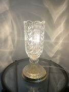 Vintage Beautiful Led Crystal Cut Lamp Hurrican Style Heavy 14andrdquo