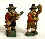 Vintage Painted Lead Metal Miniature Figures Early American