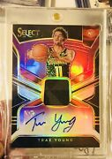 18-19 Select Trae Young Purple Prizm Rpa /99🔥rc Patch Auto Sp🔥true Rpa