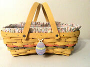 Longaberger Basket Liner Protector Tie On Sun Washed Yellow 2005 Easter New