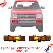 Right And Left Side Front Signal Light For 1983-93 Chevrolet S-10 / 82-90 Gmc S-15
