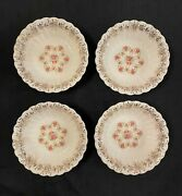 4 Franklinware 57x-264 Coupe Cereal Bowls Ivory Warranted 22k Gold Made Usa