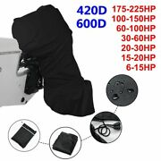 Boat Full Outboard Engine Cover Protection Waterproof Sunshade Dust-proof