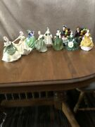 Royal Doulton Figurines Pretty Ladies And Balloon Man And Woman