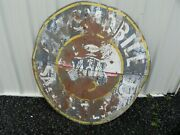 1940s-50s Oldsmobile Painted Double Sided Dealership Sign 54 Weathered Dented