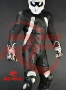 New Six Pack Batman Style 1 And 2 Piece Motorbike Racing Leather Suit In 8 Colors