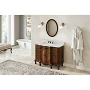 48 Nutmeg Clairemont Vanity Clairemont White Carrara Marble Top