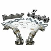 Ppe High Flow Exhaust Manifolds W/ Up Pipes For 2017-2021 Gm 6.6l L5p Duramax