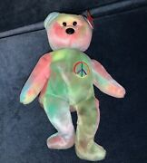 Ty Beanie Original Baby - Peace Bear, New Condition