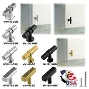 Cabinet Knobs Stainless Steel Bedroom Kitchen Drawer Cupboard Handle T Bar Pulls