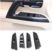 For 08-2021 Toyota Land Cruiser Carbon Fiber Window Lift Panel Switch Cover Trim