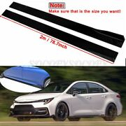 78.7and039and039 Side Skirts Rocker Panel Bottom Line Black For Toyota Corolla 2015-2021