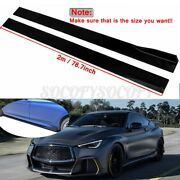 79and039and039 Side Skirts Body Kit Bottom Line Black For Infiniti Q60 G37 Coupe 2008-2021