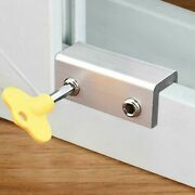 Anti-theft Door Window Lock Security Latches Sliding Sash Stopper Child Safety