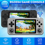 """Handheld Rg351p Retro Game Console Portable Player 3.5""""ips Screen Open Source"""