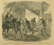 Killing Of Booth The Dying Murderer Drawn From The Barn Abe Lincoln Assassin