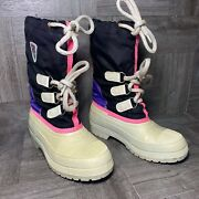 Baffin Insulated Winter Snow Boots White W/liner Womenandrsquos Size 6 Made In Canada