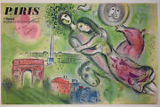 Marc Chagall Original Lithograph Poster Paris Opera And039romeo And Juliet 1964
