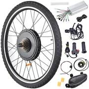 26 48v 1000w/1500w Electric Bicycle Front/rear Wheel Ebike Motor Conversion Kit