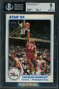 1985 Star Team Supers 5 X 7 Ps8 Charles Barkley Bgs 9 W/ 9.5 Rookie Year Issue
