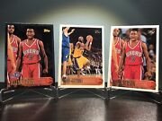 1996-97 Topps Rookie Lot Kobe Bryant And Iverson Base And Foil Gem Mint Psa 9/10 Hof