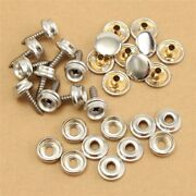 Canvas Snap Fasteners Cover Leathers Set Silver 30pcs Boat Clothing Fast